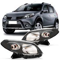 Farol-Renault-Sandero-2007-2008-2009-2010-2011-Foco-Simples-Mascara-Cinza---Lampada