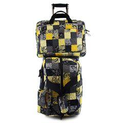 Jogo-Malas-Travel-Set-Dahlia-Com-Rodas---Capa-Para-Notebook-E-Celular-em-Patchwork-Original