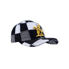 Bone-Giulianno-Fiori-Patchwork-Justin-Personalizado-Logo-Moinho-Amarelo-Com-Preto-Adulto-Aba-Curva