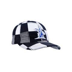 Bone-Giulianno-Fiori-Patchwork-Justin-Personalizado-Logo-Moinho-Branco-Com-Azul-Strapback-Adulto-Aba-Curva