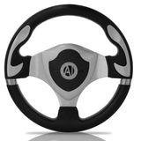 Volante-Esportivo-Automotive-Imports-Muscle-Prata-320mm