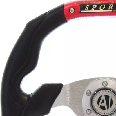 Volante-Esportivo-Automotive-Imports-Magma-Vermelho-350mm
