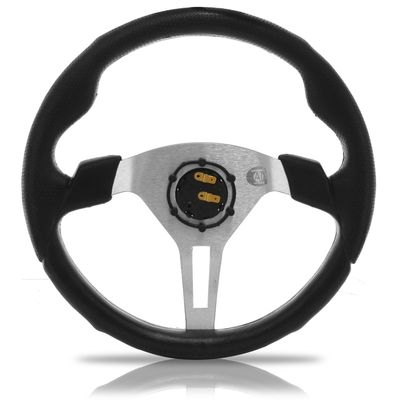 Volante-Esportivo-Automotive-Imports-Thundercloud-Cinza-350mm