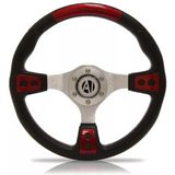 Volante-Esportivo-Automotive-Imports-Eagle-Vermelho-Modelo-2-320mm