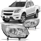 Farol-Chevrolet-S10-LTZ-2012-2013-2014-2015-2016-Mascara-Cromada-com-Projetor