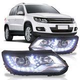 Farol-Daylight-Volkswagen-Tiguan-2012-2013-2014-Foco-Duplo-Com-Projetor-Mascara-Negra-Led