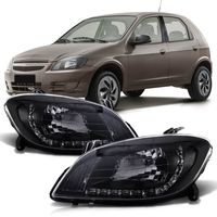 Par-Farol-Daylight-Chevrolet-Celta-2007-2008-2009-2010-2011-2012-2013-2014-2015-Prisma-Mascara-Negra-LED