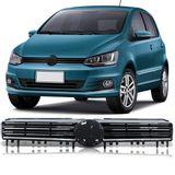 Grade-Dianteira-Volkswagen-Fox-Spacefox-2015-2016-2017-Preta-com-Friso-Cromado