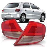 Lente-Lanterna-Traseira-Volkswagen-Gol-G5-2008-2009-2010-2011-2012-2013-Bicolor-Re-e-Pisca-Fume