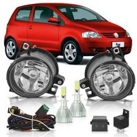 Kit-Farol-de-Milha-Auxiliar-Volkswagen-Fox-Crossfox-Spacefox-2003-2004-2005-2006-2007-2008-2009-Com-Super-Led