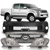 Kit-Transformacao-Toyota-Hilux-SR-SRV-2005-2006-2007-2008-para-2009-2010-2011-sem-Kit-Farol-de-Milha-Pickup