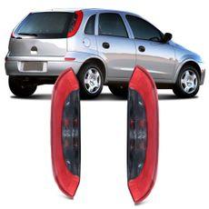 Lanterna-Traseira-Chevrolet-Corsa-Hatch-Maxx-Joy-Premium-2003-20004-2005-2006-2007-2008-2009-2010-2011-2012-Bicolor-Fume-