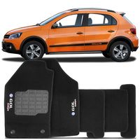 Tapete-Carpete-Novo-Gol-G6-Rallye-Preto-2013-2014-Logo-Bordado-Volkswagen-2-Lados-Dianteiro