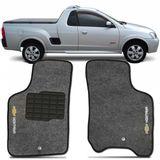 Tapete-Carpete-Montana-Grafite-2003-2004-2005-2006-2007-2008-2009-2010-Logo-Bordado-Chevrolet-2-Lados-Dianteiro