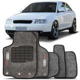 Tapete-Carpete-Audi-A3-Grafite-1997-1998-1999-2000-2001-2002-2003-2004-2005-2006-Logo-Bordado-2-Lados-Dianteiro