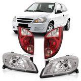 Kit-Chevrolet-Celta-2007-2008-2009-2010-2011-2012-2013-2014-2015-Farol-Mascara-Cromada---Lanterna-Traseira-Re-Rosa