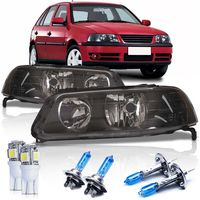 Par-Farol-Volkswagen-Gol-Parati-Saveiro-G3-1999-2000-2001-2002-2003-2004-2005-Foco-Duplo-Mascara-Negra-GIII---Lampadas