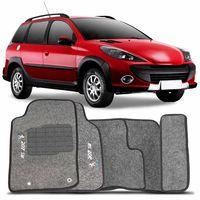 Tapete-Carpete-Personalizado-Gragite-207-SW-2009-A-2013-Logo-Peugeot-Bordado-2-Lados-Dianteiro