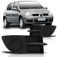 Moldura-Grade-Lateral-Parachoque-Dianteiro-Renault-Clio-2006-2007-2008-2009-2010-2011-sem-Furo-para-Milha