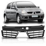 Grade-Dianteira-Renault-Clio-2006-2007-2008-2009-2010-2011-Preta