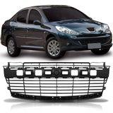 Grade-Central-Para-choque-Dianteiro-Peugeot-207-2008-2009-2010-2011-2012-2013-2014-Preta