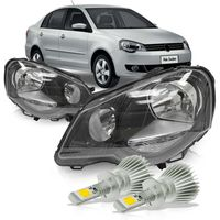 Par-Farol-Polo-2007-2008-2009-2010-2011-2012-2013-2014-Mascara-Negra-com-Super-Led-H1