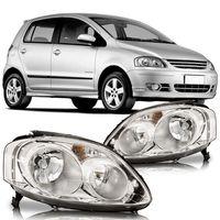 Farol-Volkswagen-Fox-2008-2009-2010-Crossfox-Spacefox-Foco-Duplo-Mascara-Cromada
