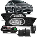 Kit-Farol-de-Milha-Auxiliar-Honda-Civic-2012-2013-2014-Botao-Modelo-Original