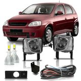Kit-Farol-de-Milha-Auxiliar-Corsa-Maxx-Joy-Premium-2002-a-2012-Montana-Meriva-Botao-Modelo-Original-Com-super-Led-H3