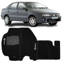 Tapete-Carpete-Fiat-Marea-1997-1998-1999-2000-2001-2002-2003-2004-2005-2006-2007-Logo-Bordado2-Lados-Dianteiro-Preto