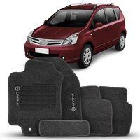Tapete-Carpete-Livina-Grafite-2010-2011-2012-2013-2014-Logo-Bordado-Nissan-2-Lados-Dianteiro