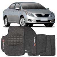 Tapete-Carpete-Corolla-Grafite-2009-2010-2011-Logo-Bordado-Toyota-2-Lados-Dianteiro