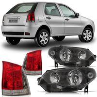 Kit-Fiat-Palio-G3-2004-2005-2006-2007-2008-2009-2010-2011-2012-2013-2014-Farol-Mascara-Negra---Lanterna-Traseira-Fume
