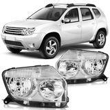 Farol-Renault-Duster-2012-2013-2014-Mascara-Cromada