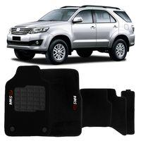 Tapete-Carpete-Hilux-SW4-Preto-2011-2012-2013-Logo-Bordado-Toyota-2-Lados-Dianteiro-