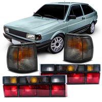 Kit-Volkswagen-Gol-Quadrado-G1-1991-1992-1993-1994-1995-1996-Lanterna-Traseira---Pisca-Seta-Dianteira-Fume-Encaixe-Cibie