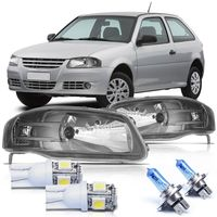 Par-Farol-Volkswagen-Gol-2006-2007-2008-2009-2010-2011-2012-2013-2014-Parati-Saveiro-G4-Mascara-Cinza-com-Super-Branca