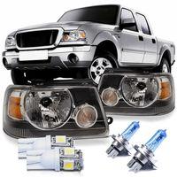 Par-Farol-Ford-Ranger-2005-2006-2007-2008-2009-Moldura-Preta---lampada-e-Pingo