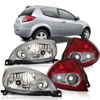 Kit-Ford-Ka-2008-2009-2010-2011-2012-Farol-Mascara-Cromada---Lanterna-Traseira-Bicolor