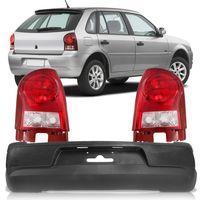 Kit-Volkswagen-Gol-G4-2006-2007-2008-2009-2010-2011-2012-2013-2014-Parachoque-Traseiro---Par-Lanterna-Traseira-Bicolor-Carcaca-Vermelha-