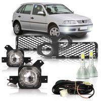 Kit-Farol-de-Milha-Auxiliar-Volkswagen-Gol-Parati-Saveiro-G3-1999-2000-2001-2002-Fase-1-Moldura-Com-Super-Led