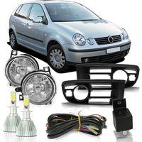 Kit-Farol-de-Milha-Auxiliar-Volkswagen-Polo-2003-2004-2005-2006-Botao-Modelo-Universal-Com-Super-Led