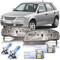 Par-Farol-Volkswagen-Gol-2006-2007-2008-2009-2010-2011-2012-2013-2014-Parati-Saveiro-G4-Mascara-Cromada-com-Super-Branca