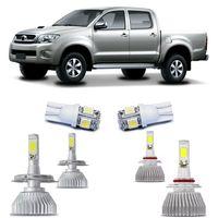 Kit-Lampadas-Super-Led-HeadLight-6000k-com-reator-Toyota-Hilux-SRV-2009-2010-2011-com-Lampada-Pingo