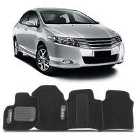 Tapete-Carpete-Preto-Volkswagen-Honda-City-2009-2010-2011-2012-2013-2014-Vulcanizado