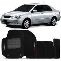 Tapete-Carpete-Corolla-Preto-2003-2004-2005-2006-2007-2008-Logo-Bordado-Toyota-2-Lados-Dianteiro
