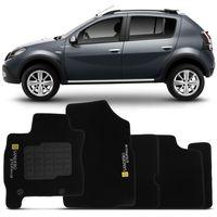 Tapete-Carpete-Preto-Renault-Sandero-Stepway-2010-2011-2012-2013-2014-Logo-Renault-Bordado-2-Lados-Dianteiro