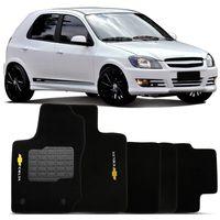 Tapete-Carpete-Personalizado-Preto-Celta-2000-a-2015-Logo-Chevrolet-Bordado-2-Lados-Dianteiro