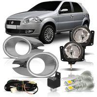 Kit-Farol-de-Milha-Fiat-Palio-Siena-Strada-G4-2008-2009-2010-2011-2012-Aro-Moldura-Cromado-Botao-Modelo-Universal-Com-Super-Led