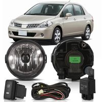 Kit-Farol-de-Milha-Auxiliar-Nissan-Tiida-2007-2008-2009-2010-2011-Botao-Modelo-Original